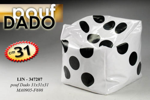 Vomera group pouf puff sgabello cubo quadrato dadi dado ecopelle